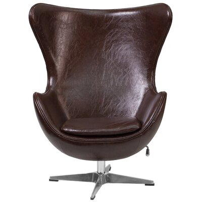 Tilt-Lock Mechanism Lounge Chair Upholstery: Brown