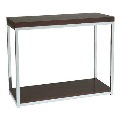 Mapleton Console Table Finish: Chrome / Espresso