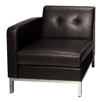 Mapleton Leather Lounge Chair Upholstery: Espresso