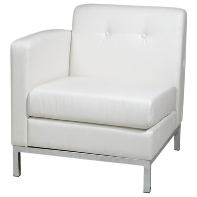 Mapleton Leather Lounge Chair Color: White