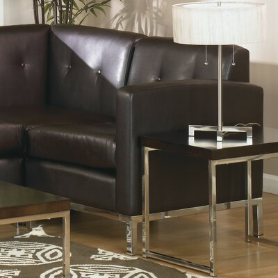 Mapleton Leather Lounge Chair Color: Black