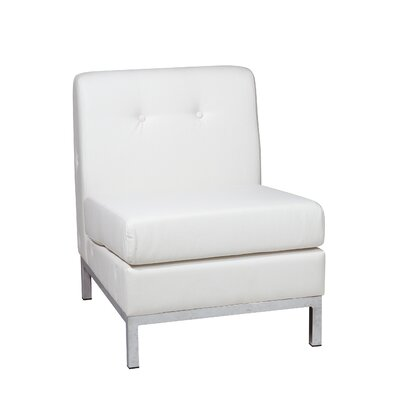 Mapleton Slipper Leather Guest Chair Color: White