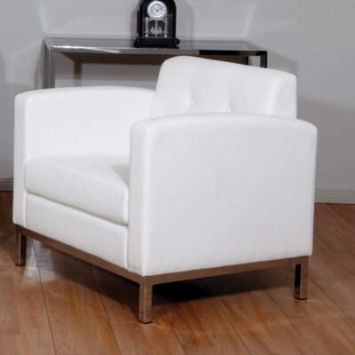Mapleton Armchair Upholstery: White