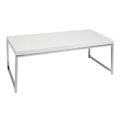 Mapleton Coffee Table Color: Chrome / White