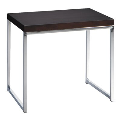 Bond End Table Finish: Chrome / Espresso