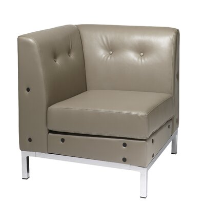 Mapleton Corner Guest Chair Color: Smoke