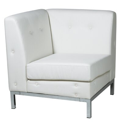 Mapleton Corner Guest Chair Color: White