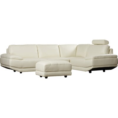 Cana Leather Sectional with Ottoman