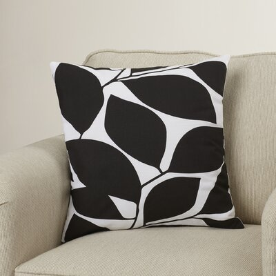 Cluff Cotton Throw Pillow Size: 18 H x 18 W x 4 D, Color: Black / Light Gray