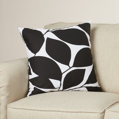 Cluff Square Cotton Throw Pillow Size: 18 H x 18 W x 4 D, Color: Black / Light Gray