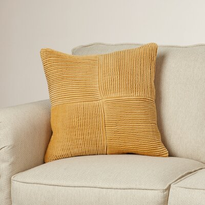 Dante Cotton Throw Pillow Size: 18 H x 18 W x 4 D, Color: Gray
