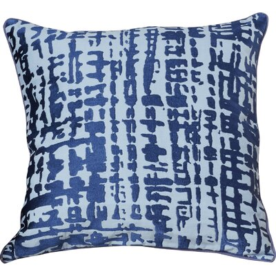 Mack Down Throw Pillow Size: 18 H x 18 W x 4 D, Color: Cobalt/Slate
