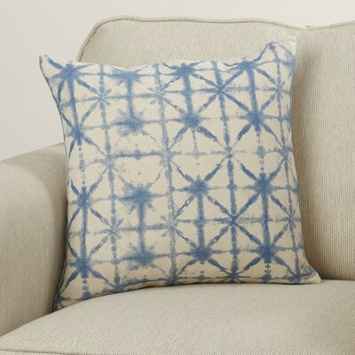Middleton Throw Pillow Size: 20 H x 20 W x 4 D, Color: Cobalt/Beige
