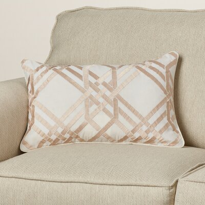 Barker Down Lumbar Pillow Color: Ivory/Gold