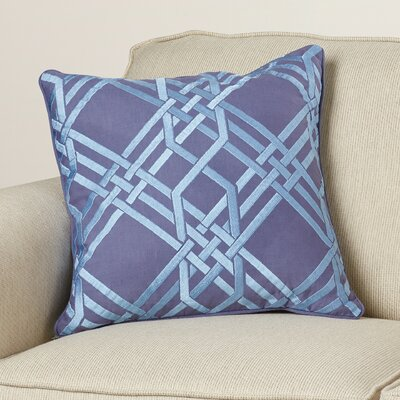 Barker Down Throw Pillow Size: 18 H x 18 W x 4 D, Color: Cobalt/Sky Blue