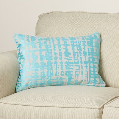 Mack Down Lumbar Pillow Color: Aqua/Light Gray