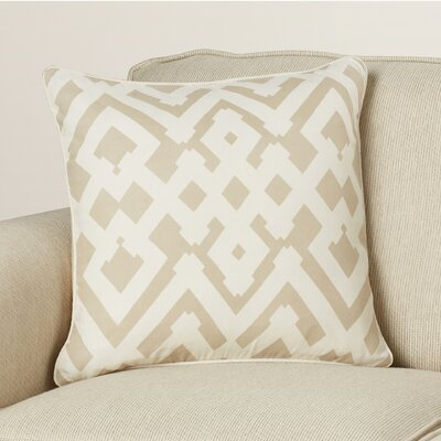 Belford Large Zig Zag Linen Throw Pillow Size: 18 H x 18 W x 4 D, Color: Gray/Ivory
