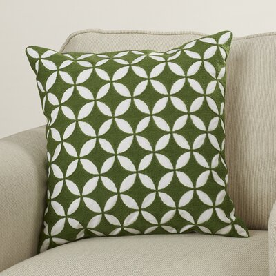 Morse Throw Pillow Size: 20 H x 20 W x 4 D, Color: Emerald/Kelly Green/Ivory