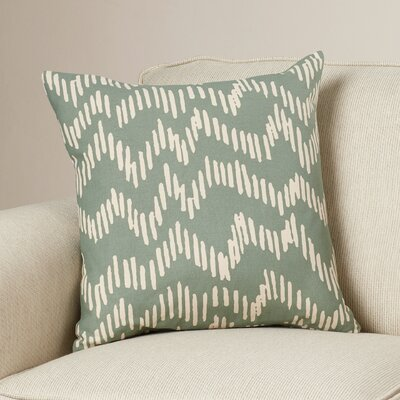 Ochoa Cotton Throw Pillow Size: 20 H x 20 W x 4 D, Color: Moss/Beige