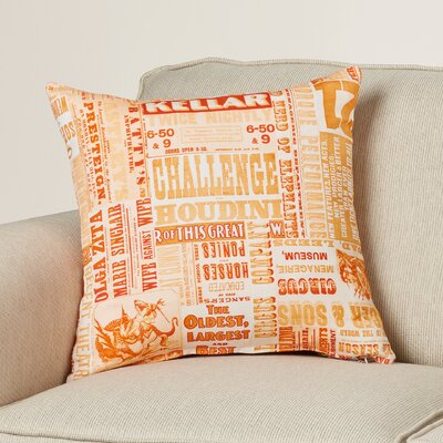 Canonsburg Throw Pillow Size: 18 H x 18 W x 4 D, Color: Poppy/Burnt Orange/Peach/Pastel Pink/Burnt Orange