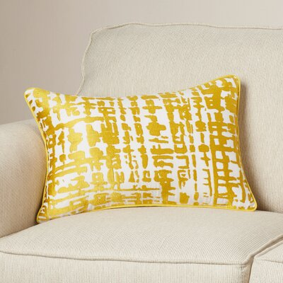 Mack Lumbar Pillow Color: Gold/Ivory