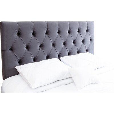 Rich Queen Upholstered Panel Headboard Upholstery: Charcoal