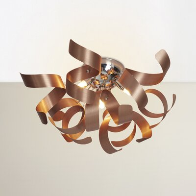 Jaelyn 4-Light Metal Flush Mount Finish: Satin Copper