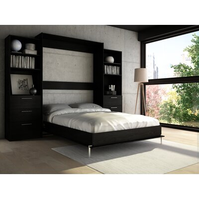 Lower Weston Murphy Bed Size: Queen, Color: Black Wood Grain