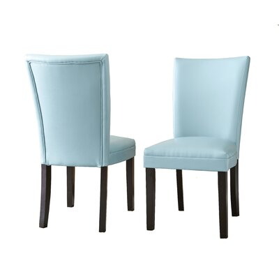 Blackburn Parsons Chair (Set of 2) Chair Upholstery: Aqua