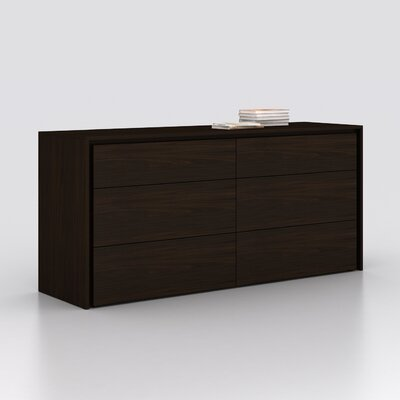 Austral 6 Drawer Dresser Color: Espresso Veneer