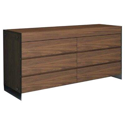 Andrew 6 Drawer Dresser Finish: Walnut Veneer