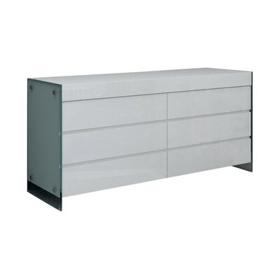 Andrew 6 Drawer Dresser Finish: White High Gloss