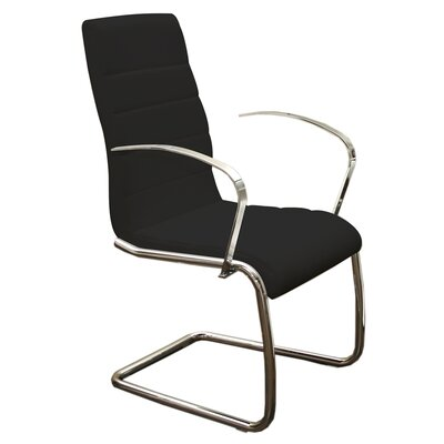 Randal Arm Chair Upholstery: Black