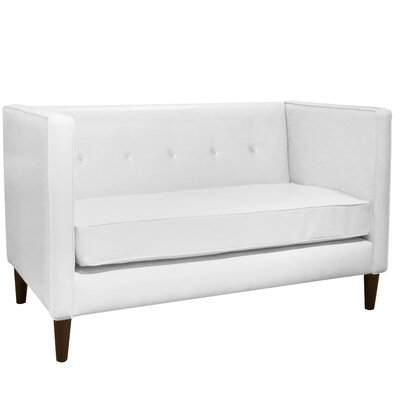Ancheta 5 Button Settee Loveseat Upholstery: White