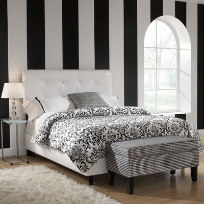Devon Upholstered Panel Bed Size: Full, Upholstery: Faux Leather - Classico Black