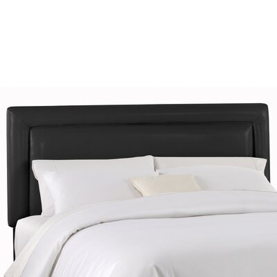 Denzil Upholstered Panel Headboard Upholstery: Classico Black, Size: Full