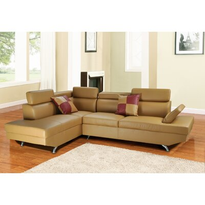 Geoffrey Sectional Orientation: Right Hand Facing, Upholstery: Butterscotch