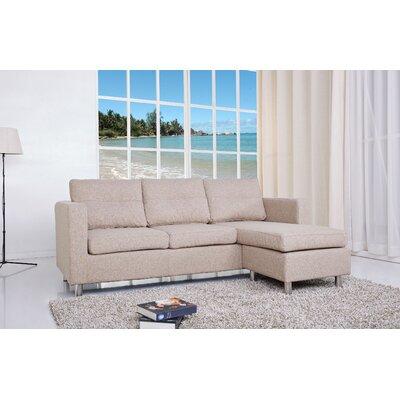 Clarence Reversible Sectional Upholstery: Camel