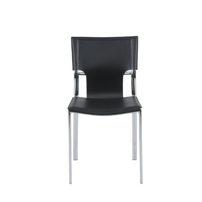 Edmond Side Chair Leather: Black