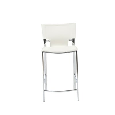 Edmond 24 Bar Stool Upholstery: White