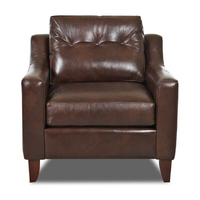 Levell Armchair Color: Brown