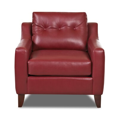 Levell Armchair Color: Red