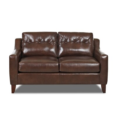 Levell Loveseat Upholstery: Brown