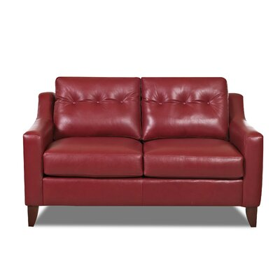 Levell Loveseat Upholstery: Red