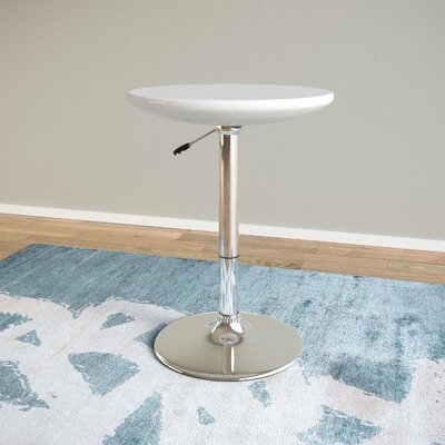 Chenier Adjustable Height Pub Table Finish: Glossy White