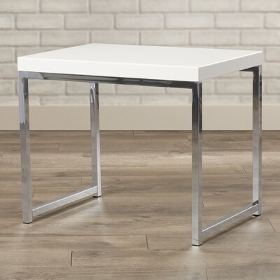 Bond End Table Color: Chrome / White
