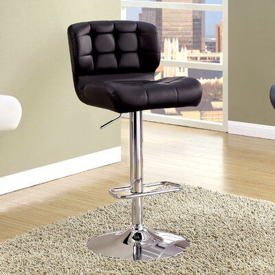 Ohboke Adjustable Height Swivel Bar Stool Upholstery: Black