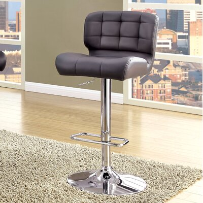Ohboke Adjustable Height Swivel Bar Stool Upholstery: Gray