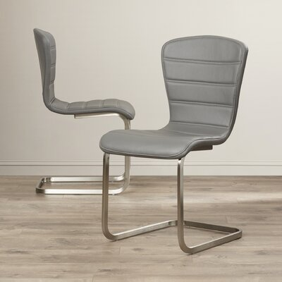 Cameo Side Chair Upholstery: Gray
