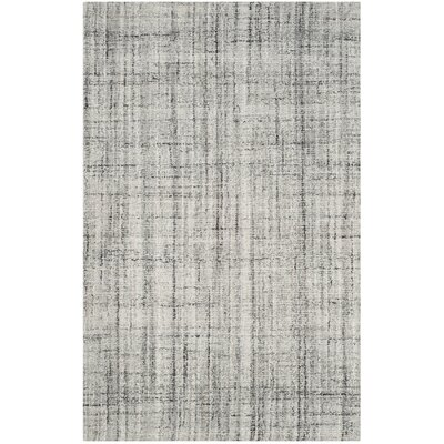 Dustin Hand-Tufted Gray Area Rug Rug Size: Rectangle 3 x 5